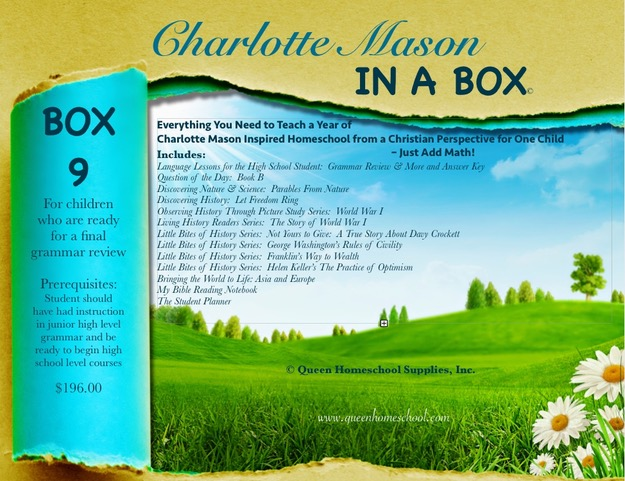 Charlotte Mason in a Box - Box 9 - Click Image to Close