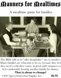 Manners for Mealtimes - A Mealtime Game for Families