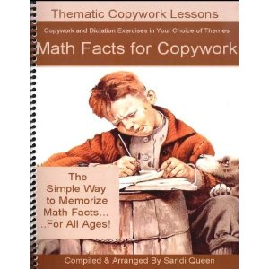 Math Facts for Copywork